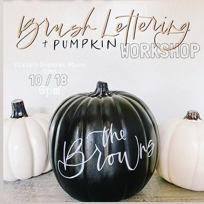 Beginners Brush Lettering Pumpkin Workshop