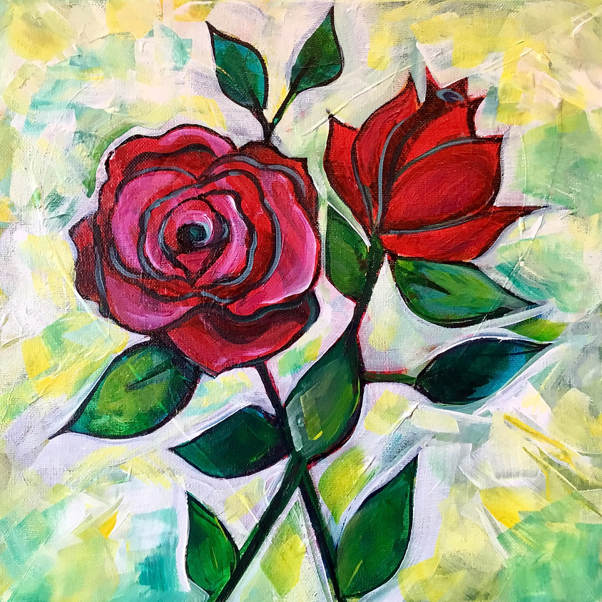Flower Series Paint Party with Amy Lynn Stevenson (1)