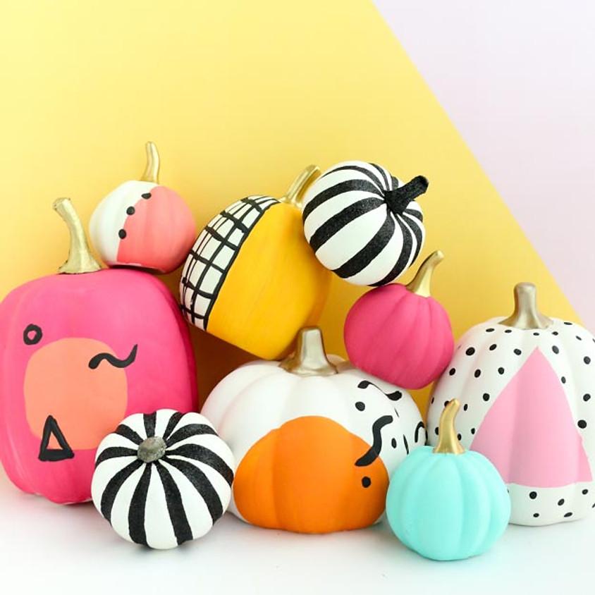 Pixie Playdate - Pumpkin Decorating