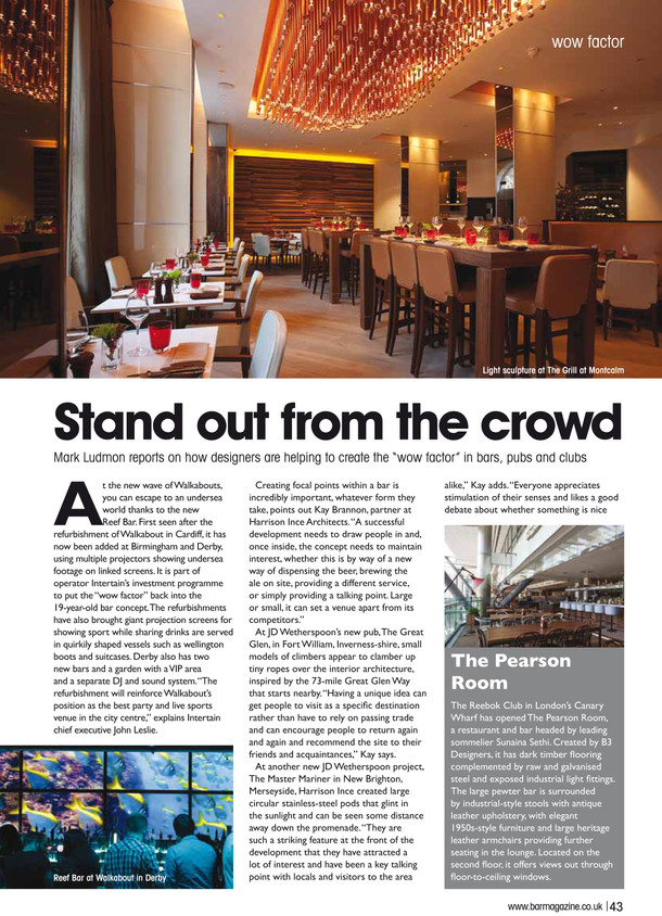 Article Written for Hospitality Interiors Magazine by Kay Brannon
