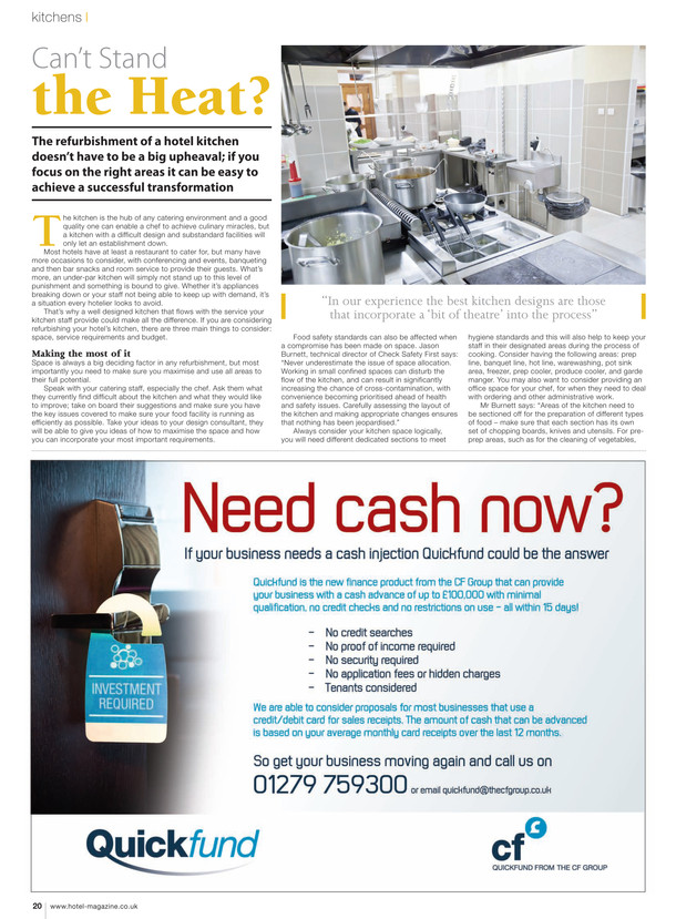 Article Written by Kay Brannon for Hotel Business Magazine on Kitchens