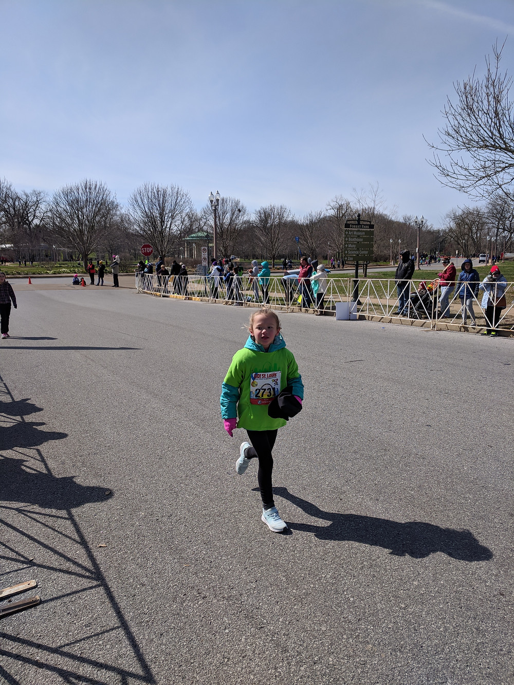 One of the OMS runners heading toward the finish.