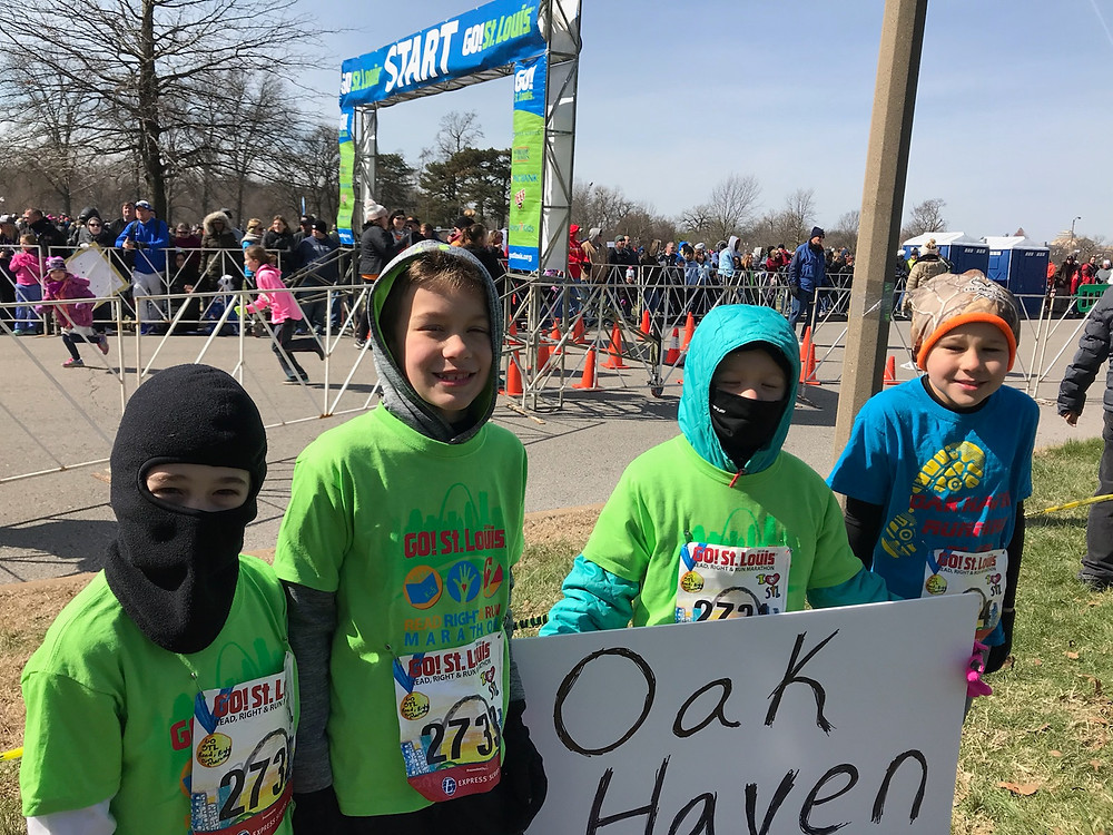 OMS Elementary students before the race.
