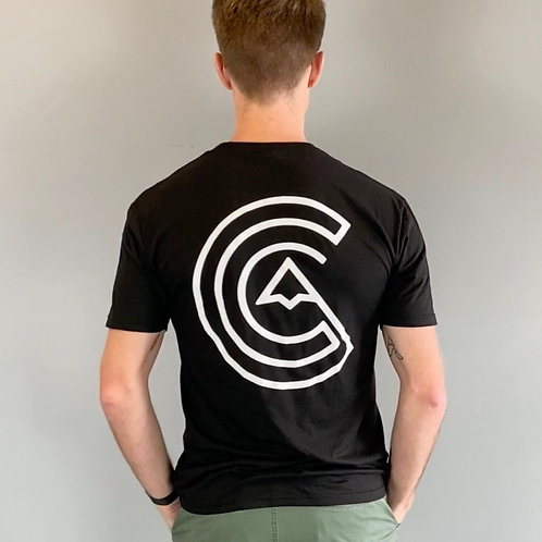 The Climb Clinic T-Shirt (BLK w/ WHT Logo)