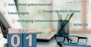 (Wets)wijzigingen per 1 juli!