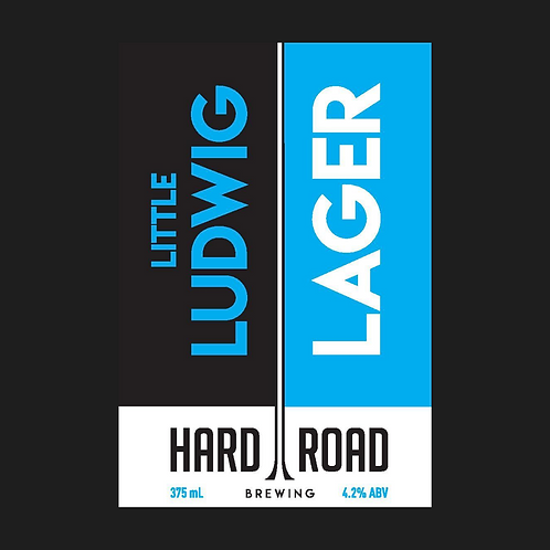 Little Ludwig Lager 4.2%ABV 375mL can