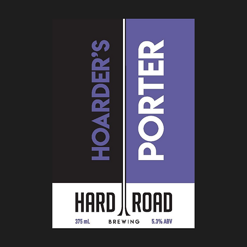 Hoarder's Porter 5.3%ABV  375mL can