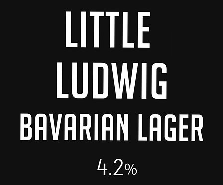 Little Ludwig Bavarian Lager GROWLER Fill (1.9L)