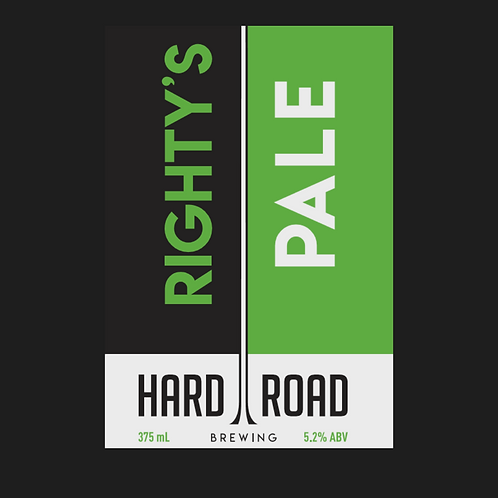 Righty's Pale  5.2%ABV 375ml Can