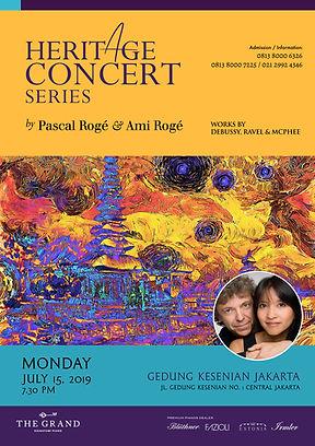 CONCERT HERITAGE PASCAL ROGÉ & AMI ROGÉ CONCERT AT THE GRAND SIGNATURE PIANO