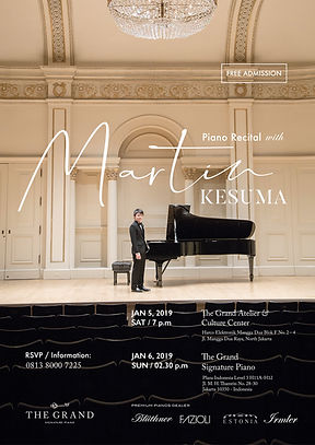 MARTIN KESUMA PIANO RECITAL at THE GRAND SIGNATURE PIANO