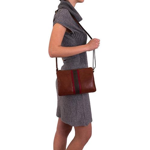 Gianni Conti leather handbag with detachable strap