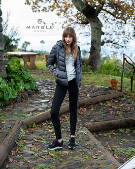 Marble Hooded quilted Jacket