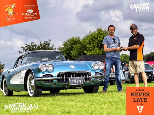 Carrot Town Garage American Car Show - we had a blast!