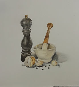 'Pepper Mill'  coloured pencil  (commiss