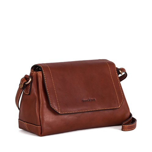 Gianni Conti leather shoulder bag with flap