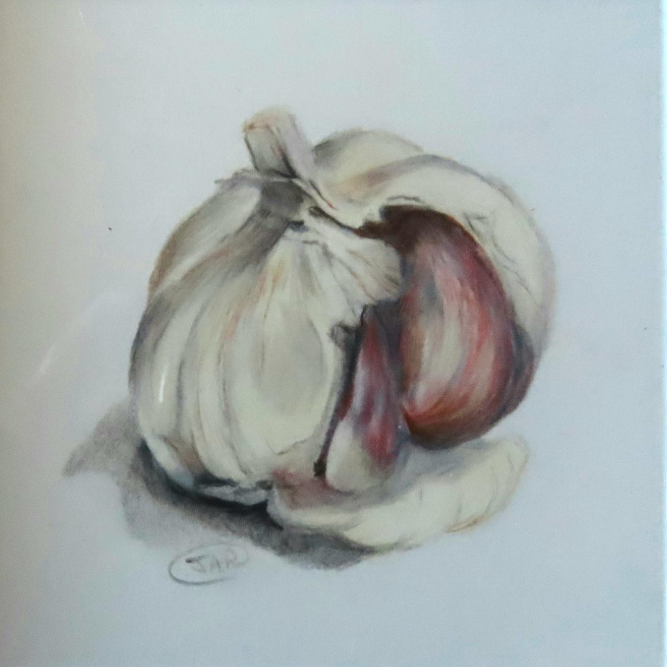 'Garlic ' coloured pencil