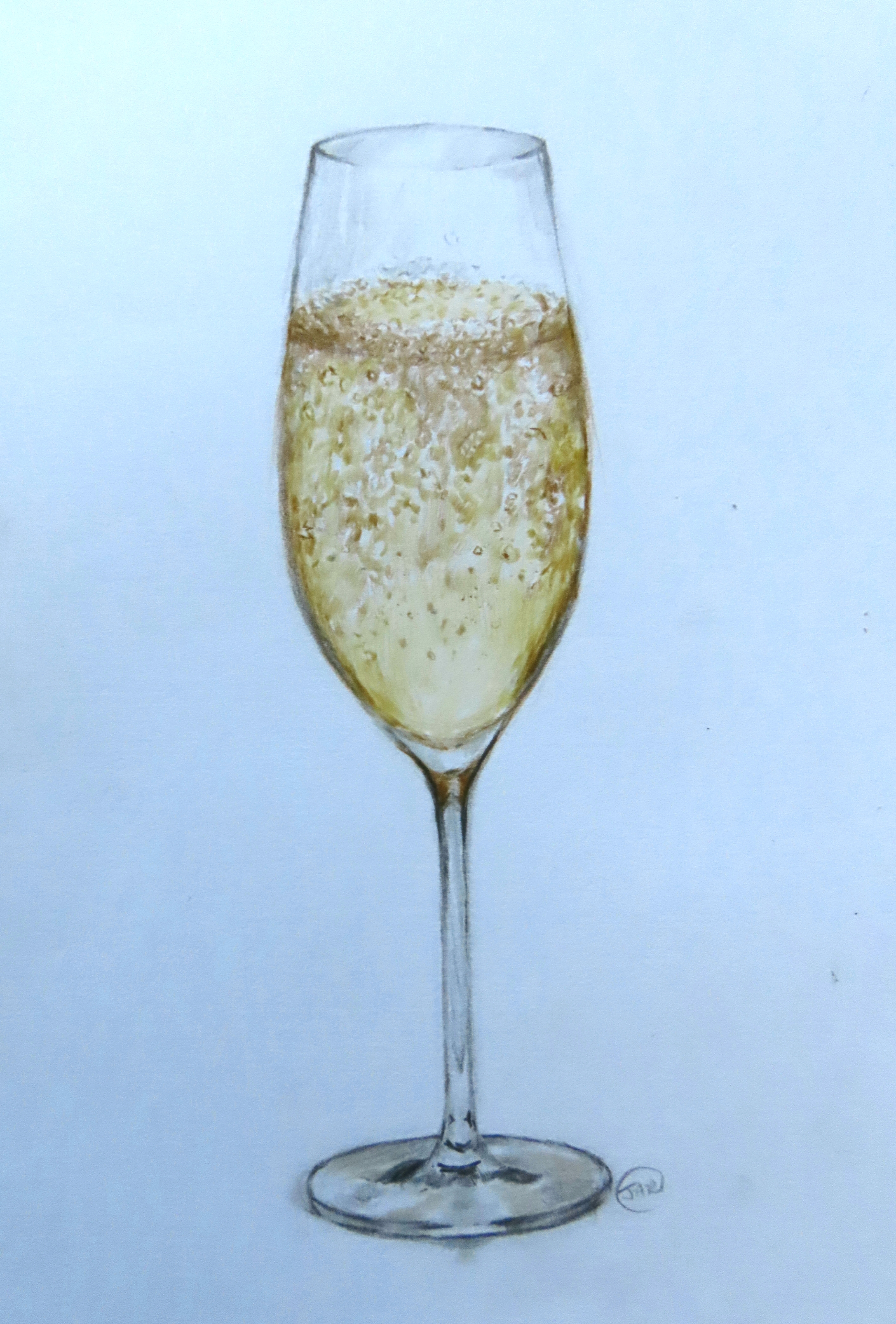 'Champagne ' coloured pencil