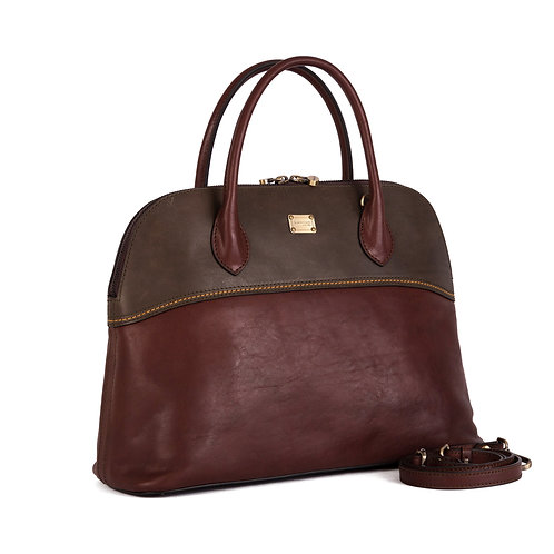 Gianni Conti leather handbag with shoulder strap