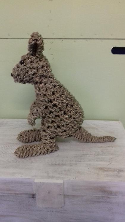 Handmade rope animals - KANGAROO - recycled materials