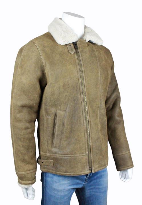 Rocky 3 - Men's Camel distressed antique finish jacket