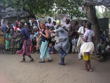 Dr Debora Chelson, Naturopath dances in Africa