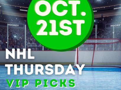 NHL Picks 10/21