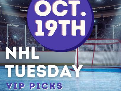 NHL Picks Tuesday 10/19