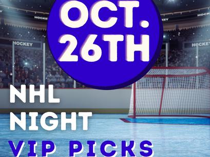 NHL Picks 10/26
