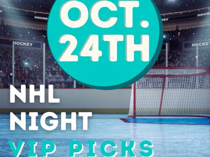 NHL Night Game Picks 10/24