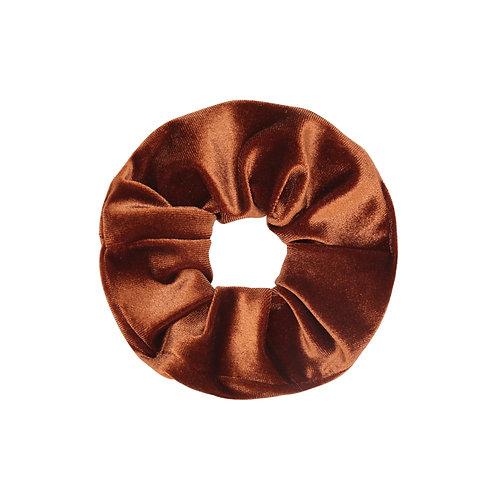 Scrunchie Velvet Bruin