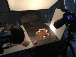 Backstage shooting culinaire