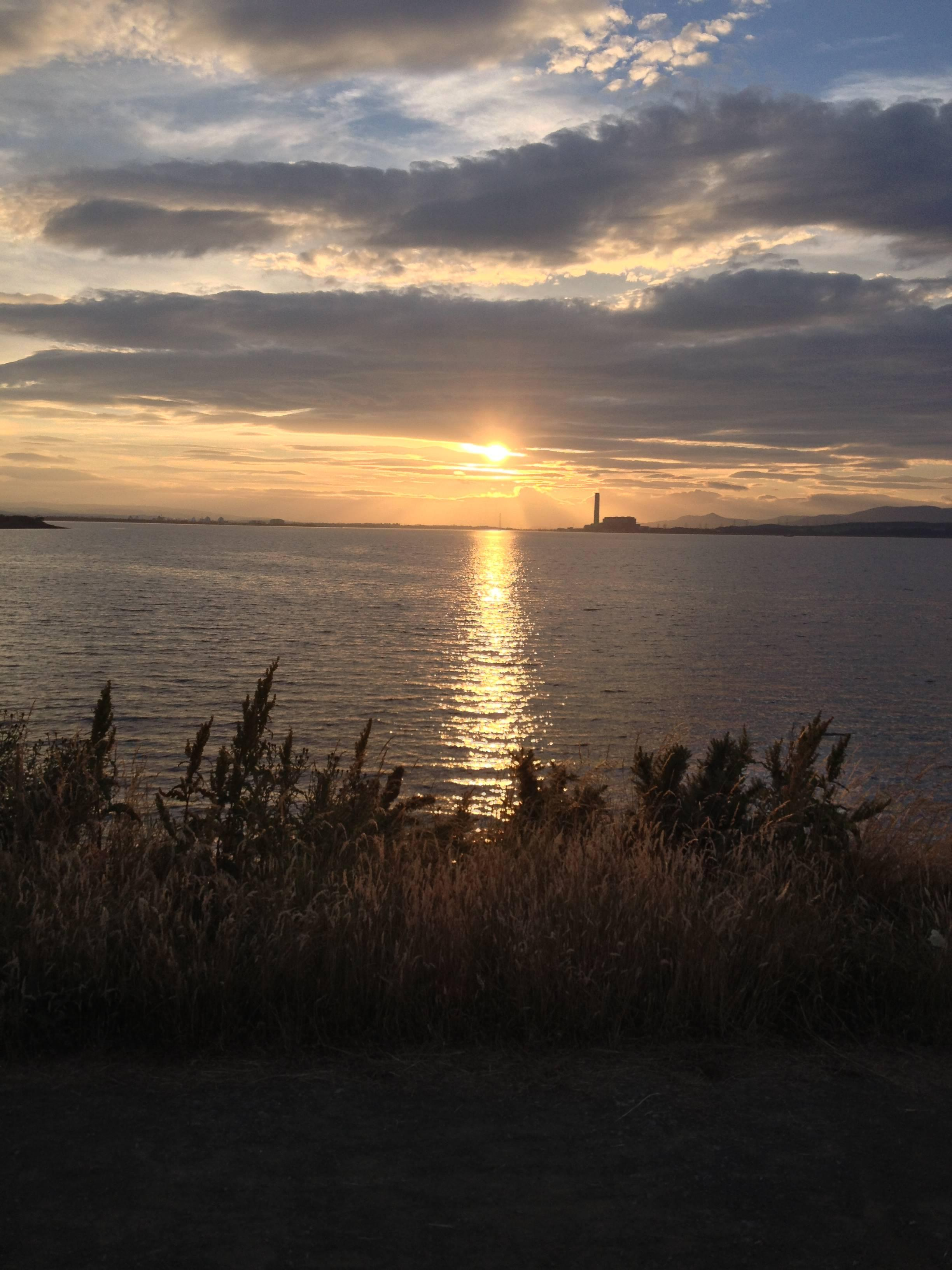 Longannet at Sunset.