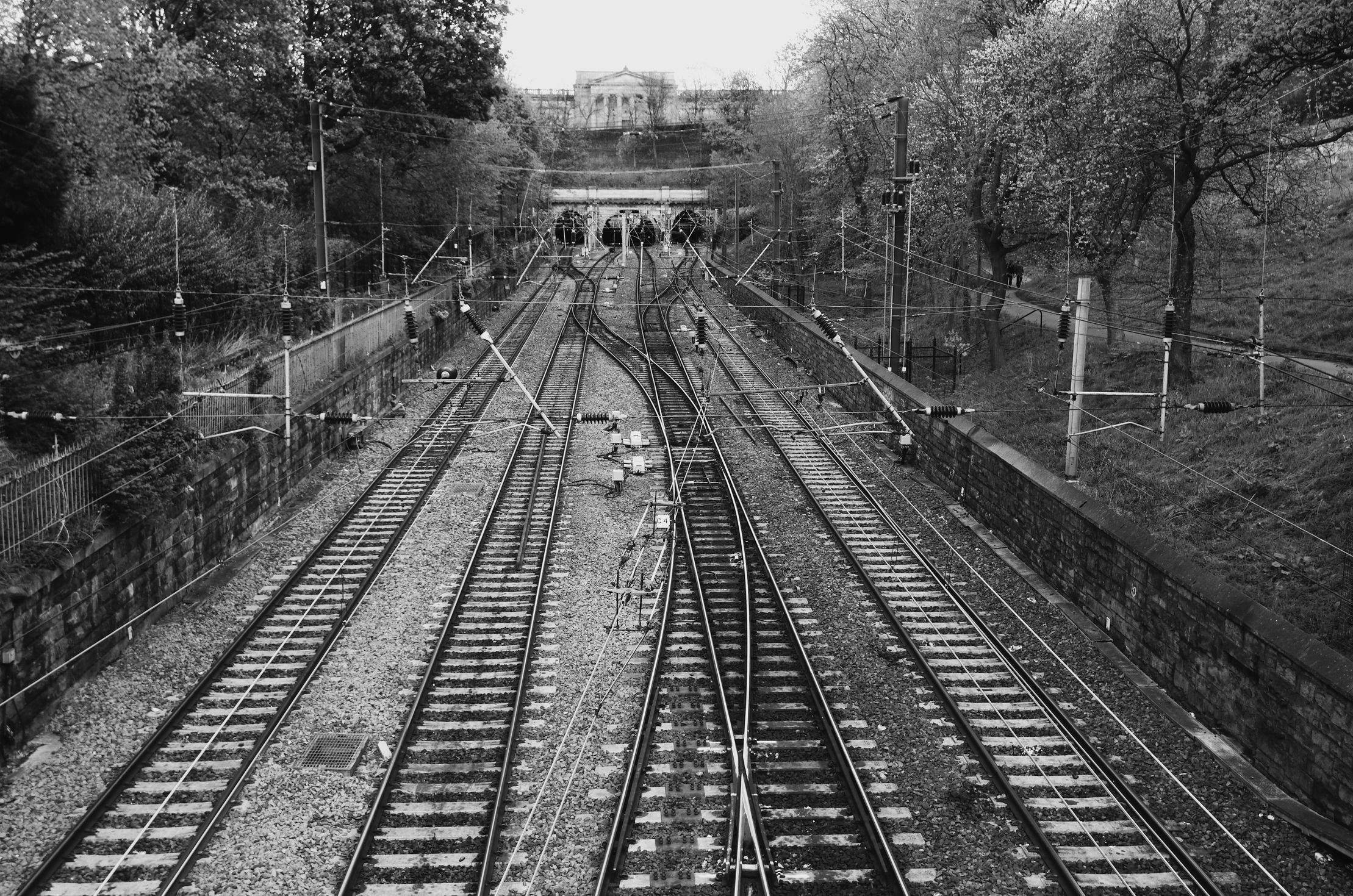 Footbridge Over the Train Line