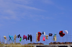 Blue Sky With Washing