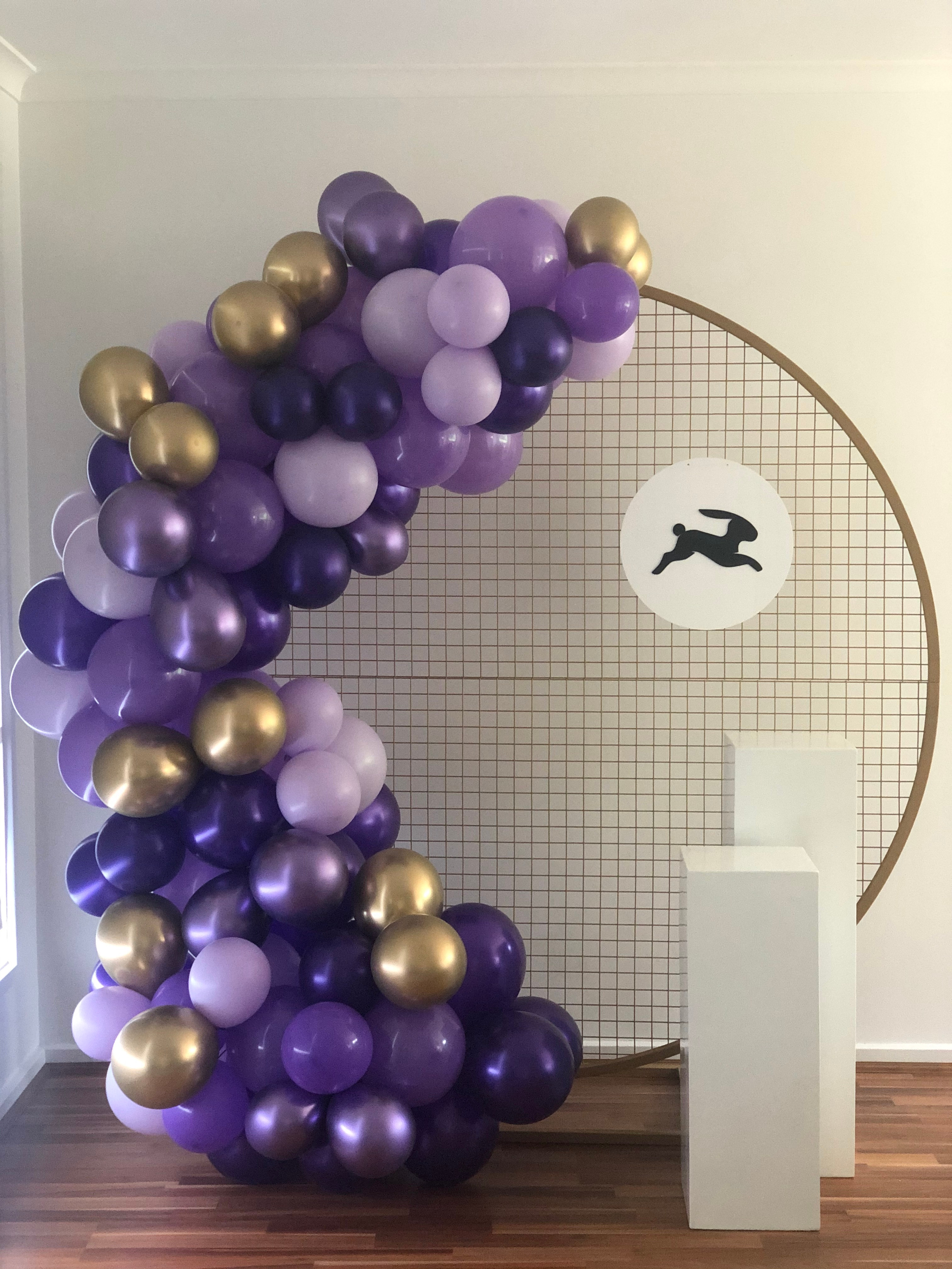 Package - Balloons & Backdrop (Gold)