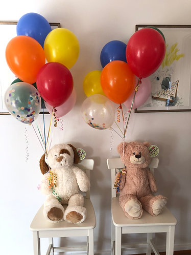 Balloon & Teddy Bear Bouquet