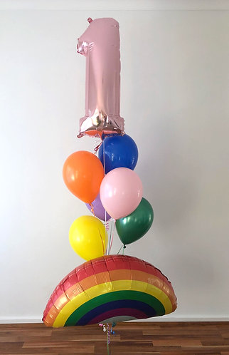 Foil Character & Number Balloon Bouquet
