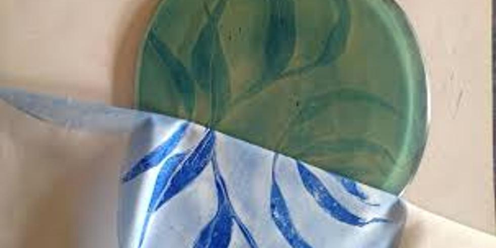 Gelli Printing on Fabric