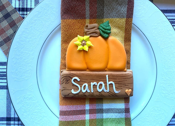 Pumpkin Placecard / Single Cookie