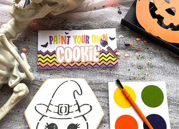 Witch Pumpkin PYO (Paint Your Own) Cookie