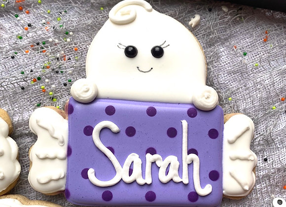 Personalized Ghost cookie