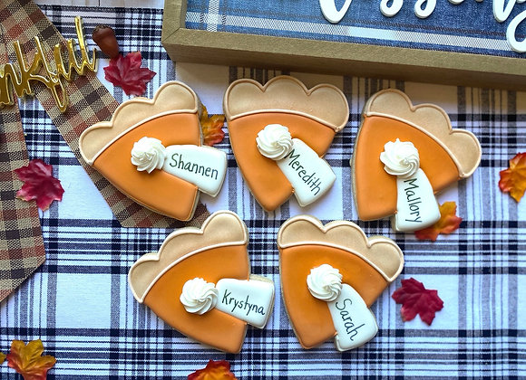 Pie Placecard Cookie / Single Cookie