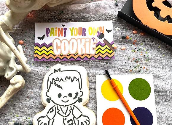 Frankenstein PYO (Paint Your Own) Cookie