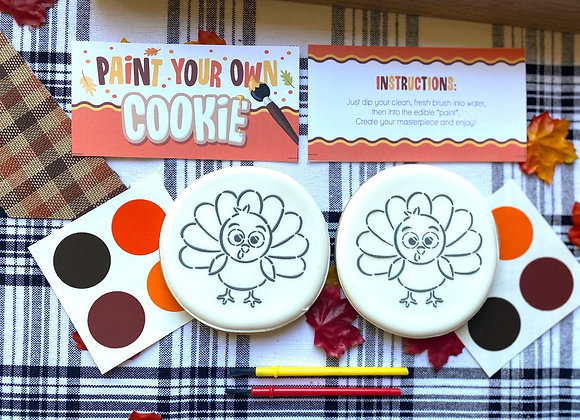 Turkey PYO (Paint Your Own Cookie)