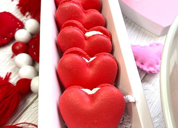 Heart Shaped Vanilla French Macarons