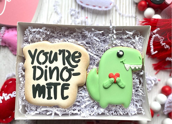 """""""You're Dino-Mite"""" Cookie Gift Set"""