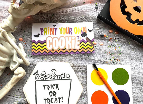 Trick or Treat Bag PYO (Paint Your Own) Cookie