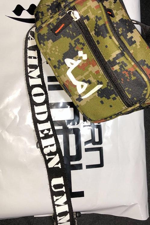 Light Green/Brown Digital Camouflage - Waist Bag