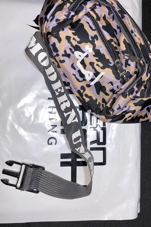 Gray/Purple Urban Camouflage - Waist Bag